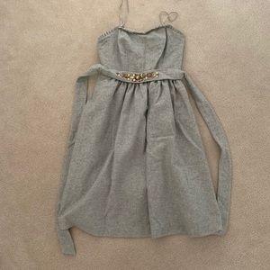 Banana Republic Wool Strapless Dress